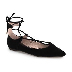 TOPSHOP Lace-Up Pointy Toe Flats